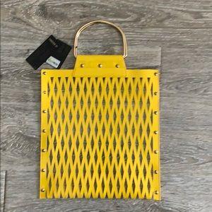 NWT Forever 21 yellow handbag tote satchel purse